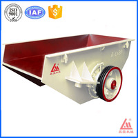 Guangzhou manufacturer mini vibrating feeder vibrating hopper with 15 kw motor and 160 T/H handle ability