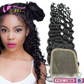 Fashional hot selling lace frontal, Curly Lace Closure