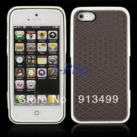 New Coffee Silica Gel luxury case cover Sole Style Shell Skin Protector for iphone 5 free shipping S10929