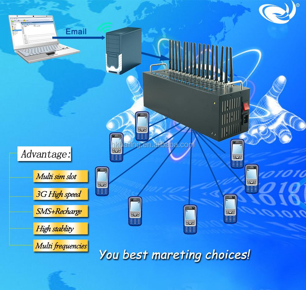Simcom Sim5320 bulk sms mms 16 port gsm modem pool
