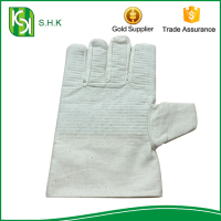 Popular Safty High Elbow Work Cycling Cotton Canvas Gloves
