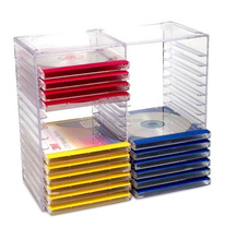 Transparent Acrylic CD Display Cases for Storage