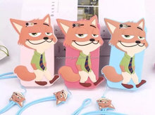 3D Fox silicone case cover for iPhone 6 6plus, Fox Cut case for iPhone 6