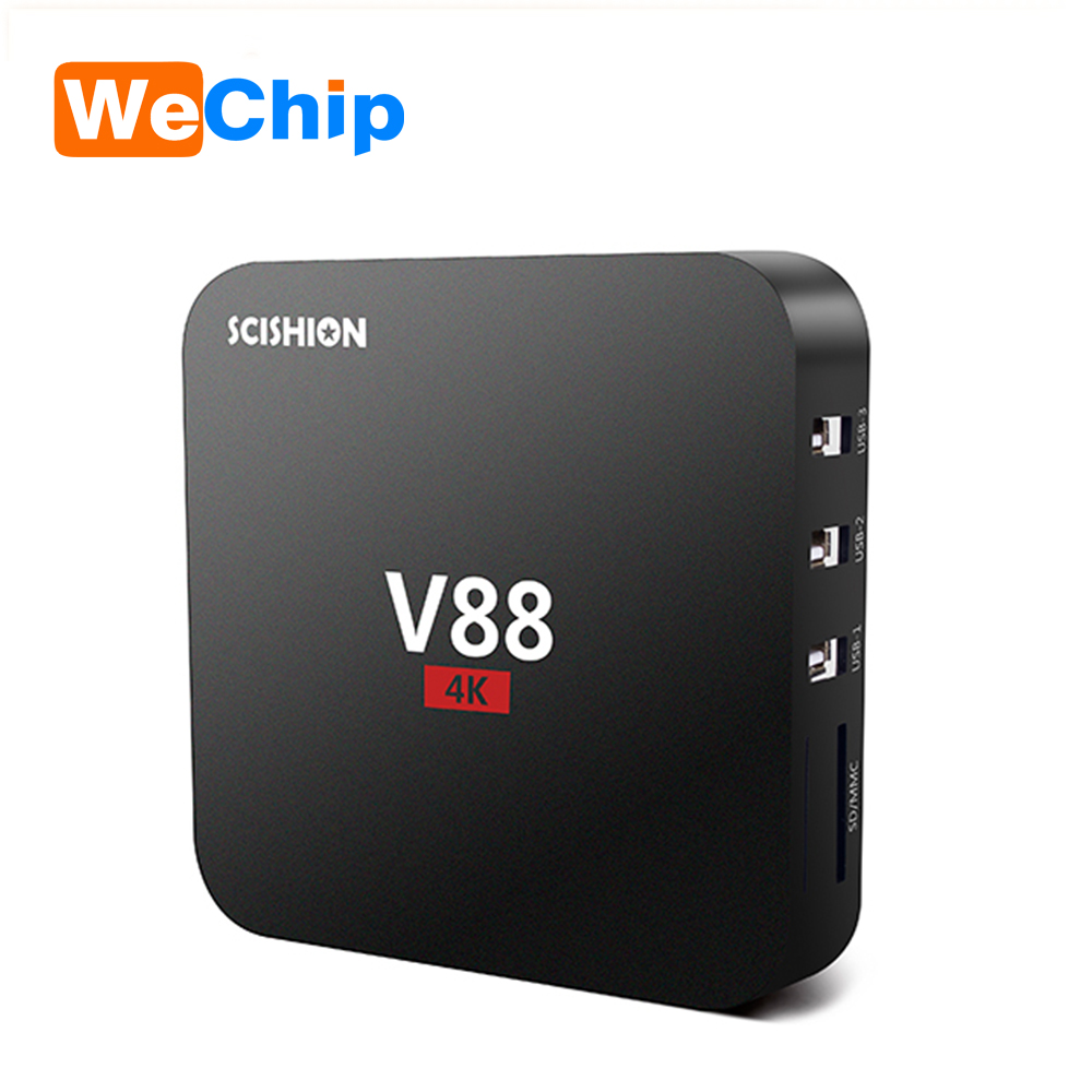 Wechip orginal rooted Android 5.1 Quad core android 4k V88 ott tv box,RK3229 1G 8G set top box v88