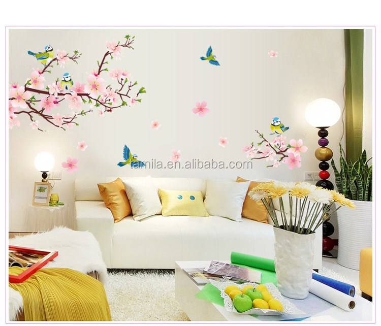 Removable PVC Modern Cherry Blossom Butterfly Home Decor Art Wedding Room Wall Decal