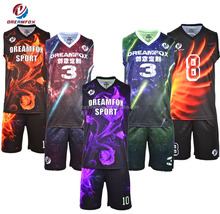cheap Basketball uniform best lastest custom sublimation blank reversible dry fit basketball jersey design