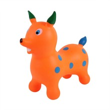 Newest PVC inflatable toys kids play middle size jumping dog animal