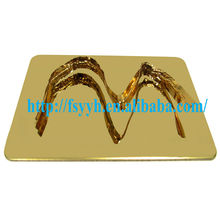 Hot sale 201 304 316L stainless steel mirror color plate from Foshan YYH