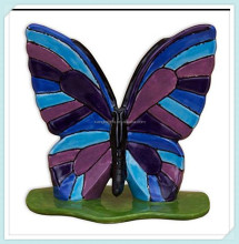 Hand painted ceramic butterflies for garden