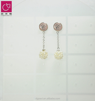 2017 4mm White Round Small Pearl Stud Earring Pearl Shell Jewellery