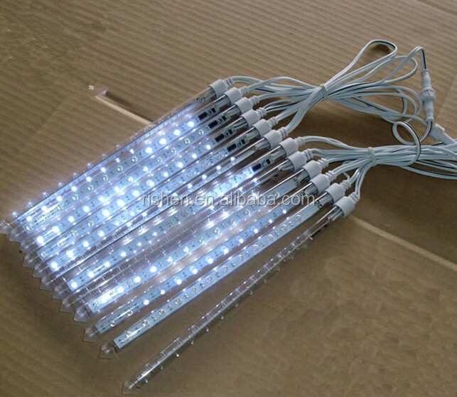 LED meteor shower lights,8pcs per sets,for tree's <strong>decoration</strong>