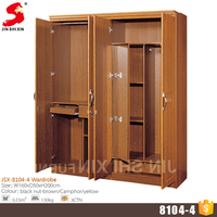 Home furniture wood almirah designs 4 door wardrobe cabinet cheap modern bedroom mdf wardrobe with mirror