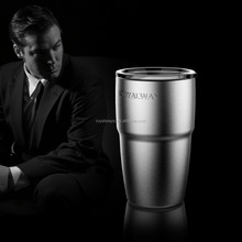 Ningbo factory unique custom thermo 304 stainless steel metal travel mug with lid