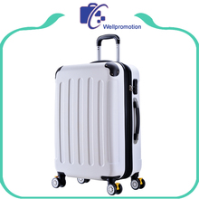 Stock abs material hard shell lightweight luggage suitcase