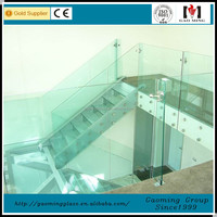 The glass stairs grill designFor House With Professional Design DS-LP1433