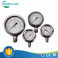 High Efficient Liquid Filled Manometer with Stainless Steel 304 Case