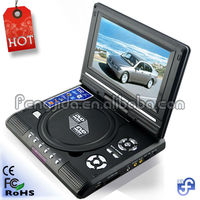Fashionable 7 inch portable boombox dvd player low price