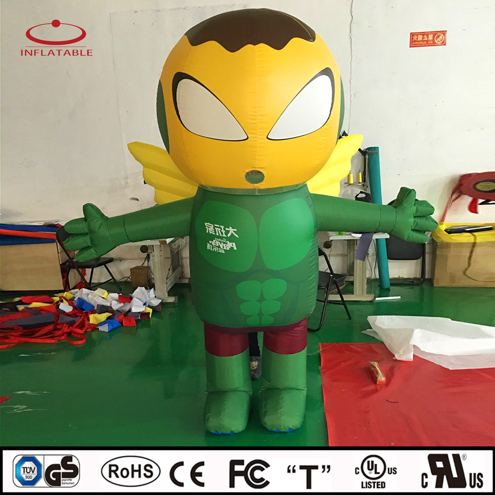 inflatable moving costume, inflatable promotion cartoon, inflatable super hero
