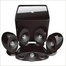 KEF 5.1 Speaker Package with Kube2 subwoofer Black