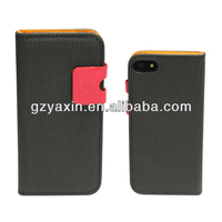 2014 Hot selling real leather case skin flip cover pouch wallet for iphone 5,leather case cover for Iphone