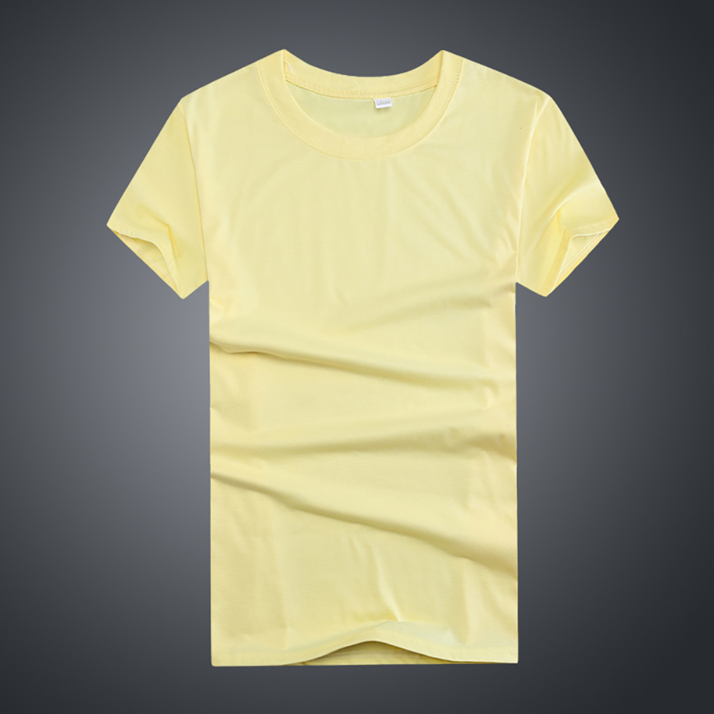 160GSM Men's polyester custom printing tshirts on plain T-shirt