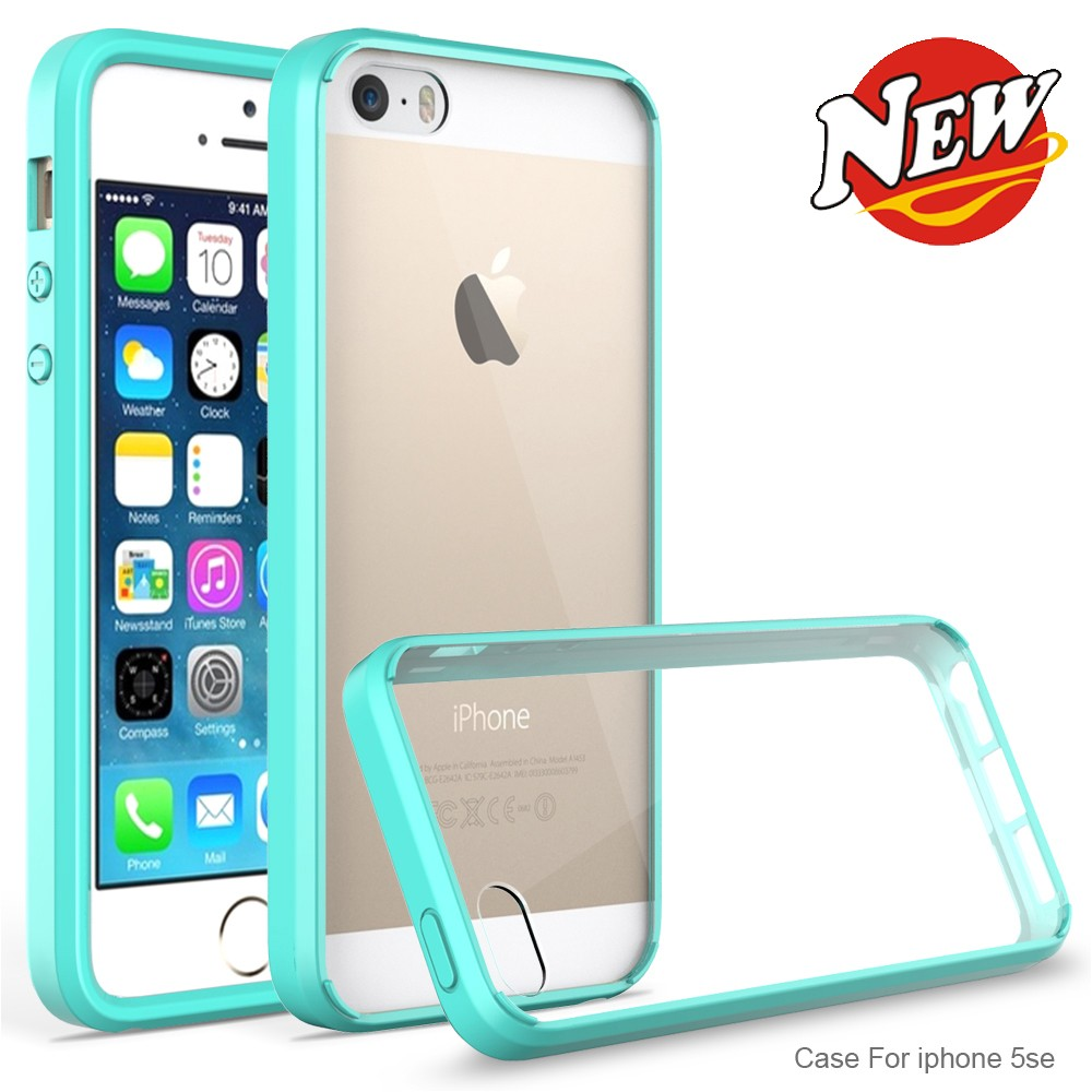 For Apple Iphone 5S/5C/SE Back Cover Case with Color Frame Edge
