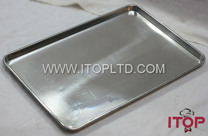 deep metal industrial aluminium baking trays