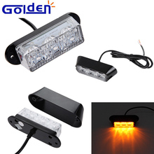 14w amber yellow led traffic deck dash grill mount strobe warning light