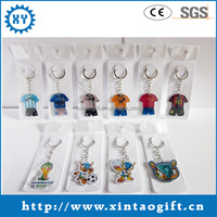 Hot sale acrylic clear keychains for 2014 brazil world cup