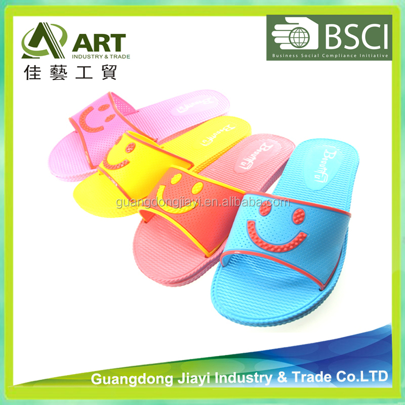 Comfortable smile face slipper, lady shoes suitable for both indoor and outdoor
