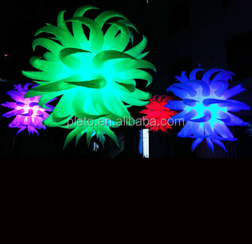 Party decoration lighted hanging inflatable star balloon