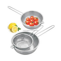 Stainless steel fruit Colander with long handle