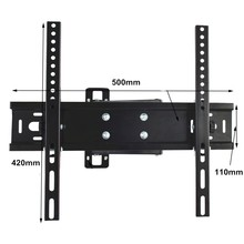 High Quality VESA 400X400 Ultra Slim TV Mount Wall Cabinet With Powder Black