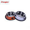 hot selling Popular & Cheap Supreme Bone Print Travel Stainless Steel Pet Dish /Dog Bowl /Pet feeder cat dog water bowl