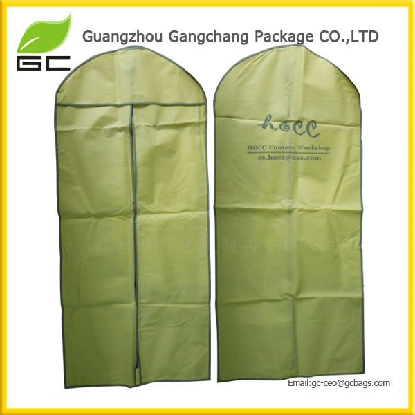 2017 best price non woven material garment hanger bags for dress and suit
