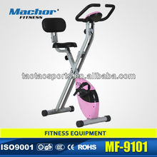 Pink crossfit equipment body building foldable magnetic bike with 2.5kgs flywheel from supplier