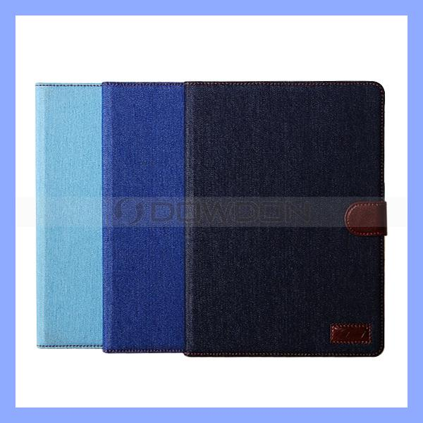 Denim Jeans Flip Wallet Card Holder Stand Case for iPad Air 5