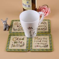 High performance many colors brand sublimation blank cork coasters