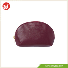 Cheap wholesale makeup wine red pvc and pu cosmetic bag eco leather