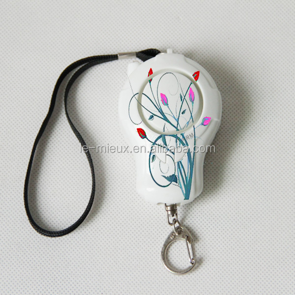 Printing Brand Name Logo Baloon Shape 140db Activate Button Control Panic Siren Personal Alarm with UV Light