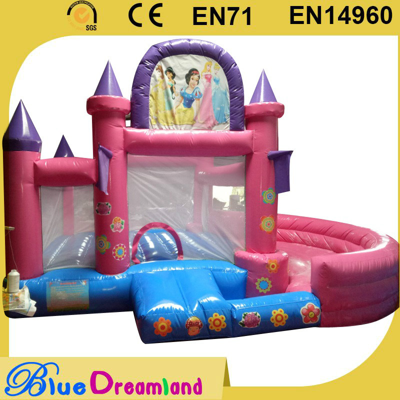 Girls Inflatable Princess caslte/Hot Princess bouncy castle Inflatable princess combo