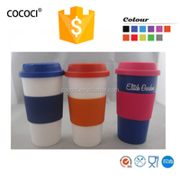 plastic cup with silicone band