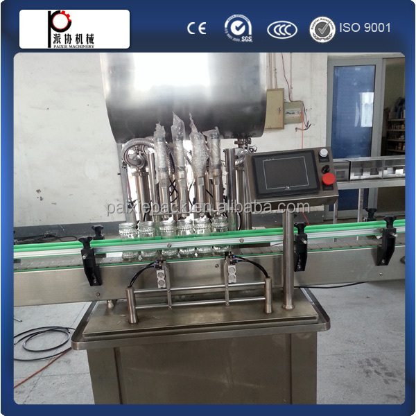 Customized stainless steel stable performance peanut butter filling capping machine with piston pump
