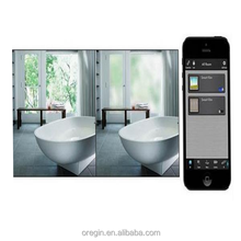 Switchable smart /tint film glass ,smart glass film /electrochromic smart film use for bathroom
