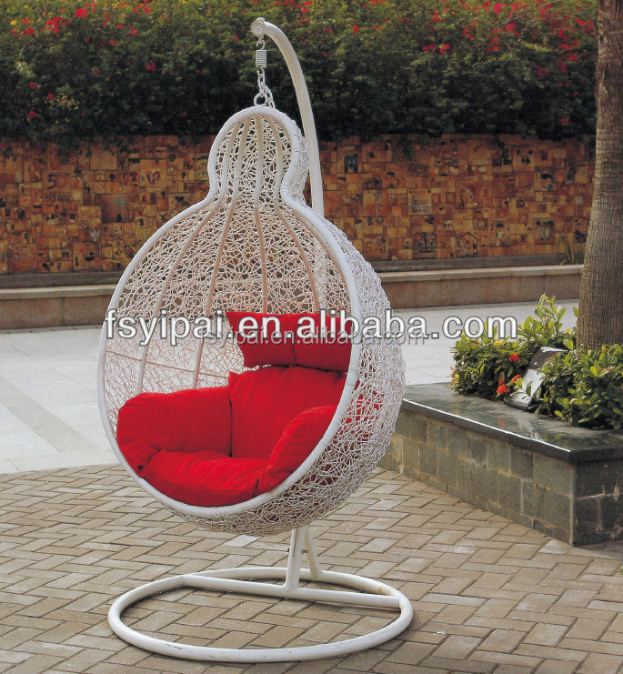 elegant modern swing hanging chair round rattan outdoor bed out door swing