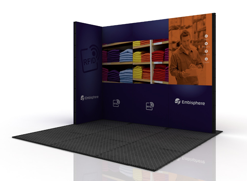 Small Exhibition Stands : Small aluminum modular exhibition stand for view exhibition