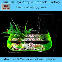 JYF-003 Factory custom acrylic wholesale toy fish aquarium/toy fish tank for children