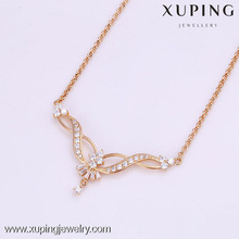41859-Xuping Women fashion design simple gold chain necklace