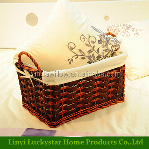 Utility Woven Wicker Baskets with Handles Cheap