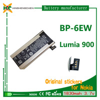 100% Original Replacement rechargeable Battery For Nokia BP-6EW BP6EW Lumia 900 1830mah li ion polymer battery batteries 3.7v